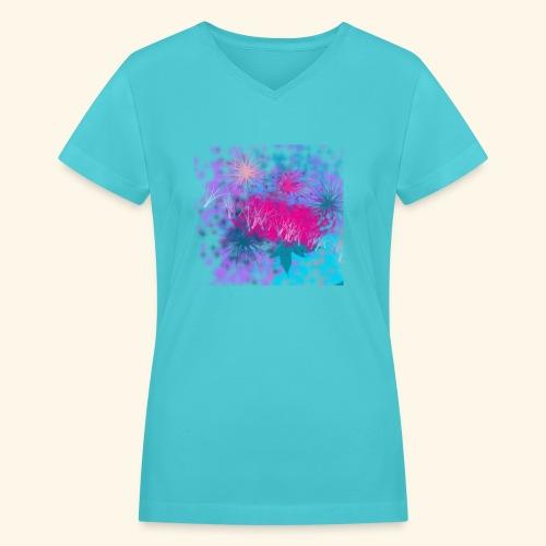 Abstract - Women's V-Neck T-Shirt