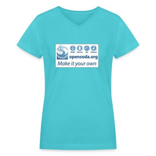 opensodalogo new larger - Women's V-Neck T-Shirt