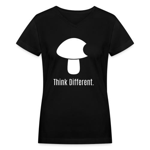 Think Different. - Women's V-Neck T-Shirt