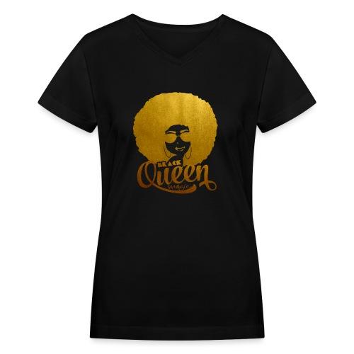 Black Queen - Women's V-Neck T-Shirt