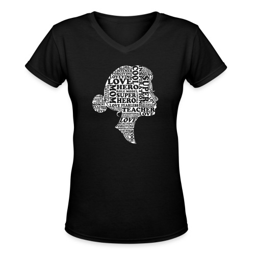 Mother Definition, Teacher Mom, Great Teacher Mom - Women's V-Neck T-Shirt