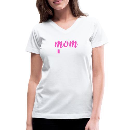 Mom battery Low- Tired Mom - Women's V-Neck T-Shirt