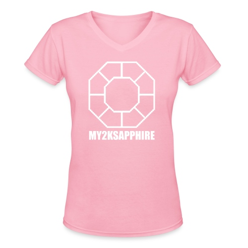 Unisex White Sapphire Hoodie - Women's V-Neck T-Shirt
