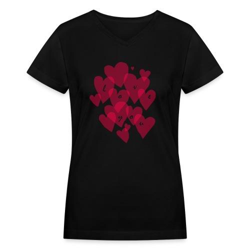 love you - Women's V-Neck T-Shirt