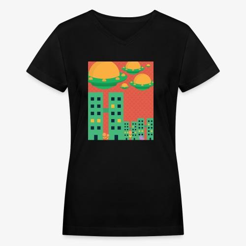 wierd stuff - Women's V-Neck T-Shirt