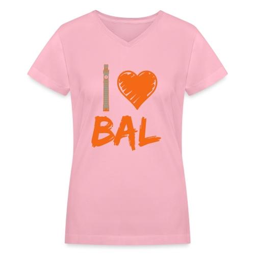 bromoheartbal - Women's V-Neck T-Shirt