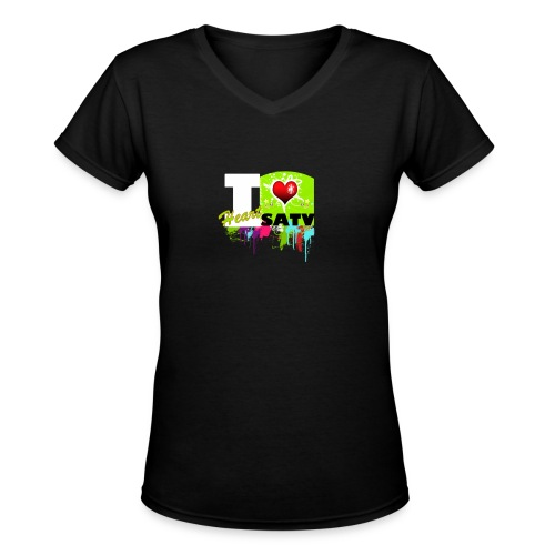 I Love SATV - Women's V-Neck T-Shirt