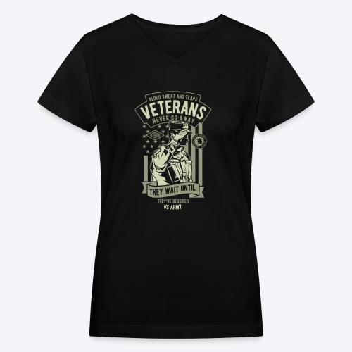 US Army Veterans - Women's V-Neck T-Shirt