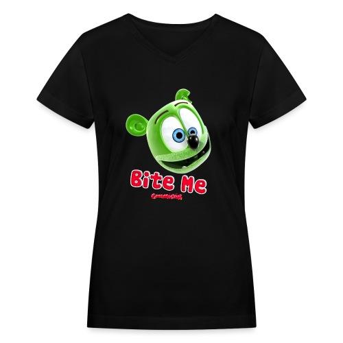 Bite Me - Women's V-Neck T-Shirt