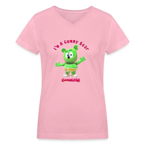 I'm A Gummy Bear - Women's V-Neck T-Shirt