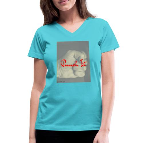 Punch it by Duchess W - Women's V-Neck T-Shirt