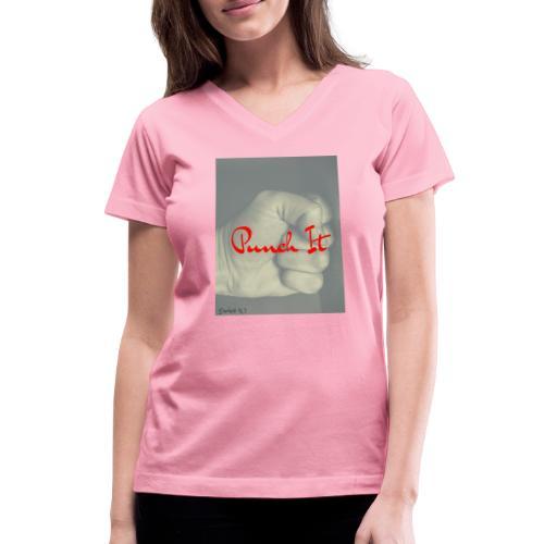 Punch it by Duchess W - Women's V-Neck T-Shirt