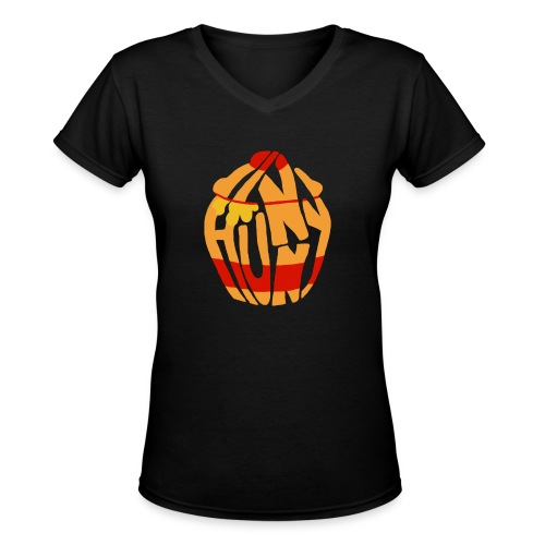 hunny - Women's V-Neck T-Shirt