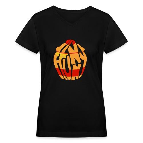 hunny - Women's V-Neck T-Shirt