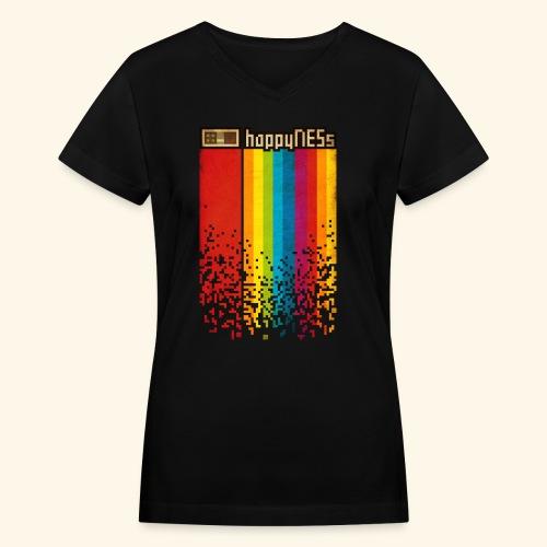 happyNESs - Women's V-Neck T-Shirt
