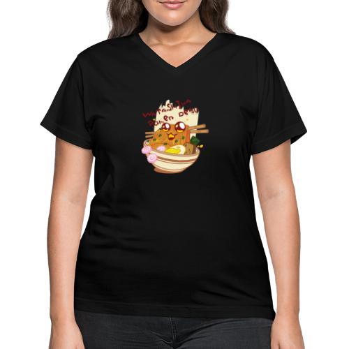 Watashiwa Ramen Desu - Women's V-Neck T-Shirt