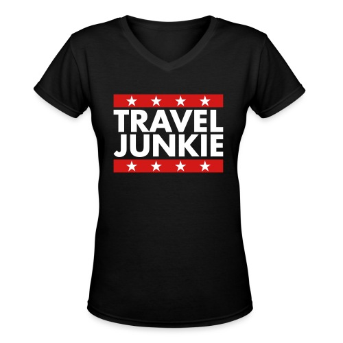Travel junkie - Women's V-Neck T-Shirt