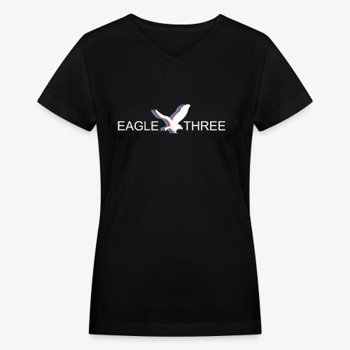 EAGLE THREE APPAREL - Women's V-Neck T-Shirt