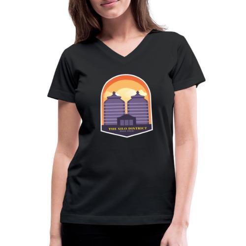 The Silos in Waco - Women's V-Neck T-Shirt