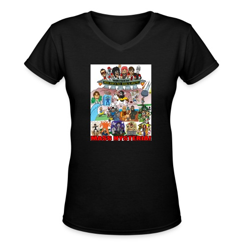 marscon2012tshirt - Women's V-Neck T-Shirt