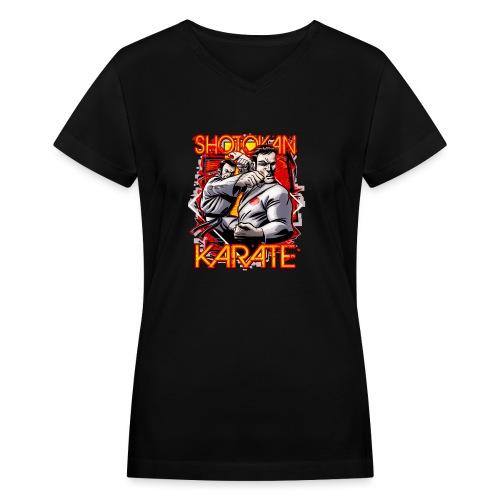 Shotokan Karate - Women's V-Neck T-Shirt