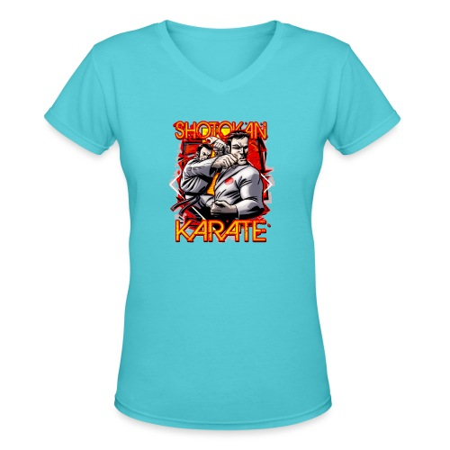 Shotokan Karate - Women's V-Neck T-Shirt