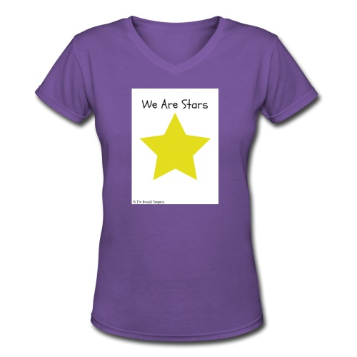 Hi I'm Ronald Seegers Collection-We Are Stars - Women's V-Neck T-Shirt