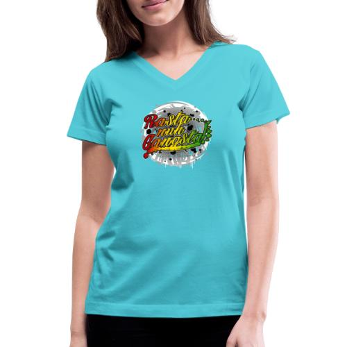 Rasta nuh Gangsta - Women's V-Neck T-Shirt