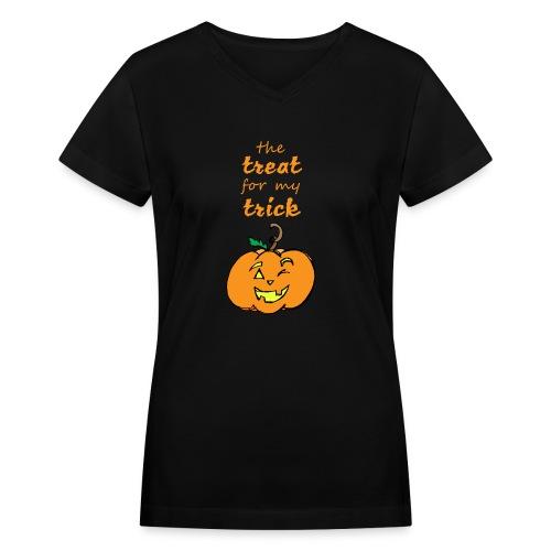 Trick or Treat Maternity - Women's V-Neck T-Shirt