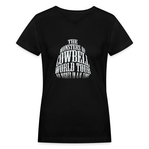 monstersofcowbellfront - Women's V-Neck T-Shirt