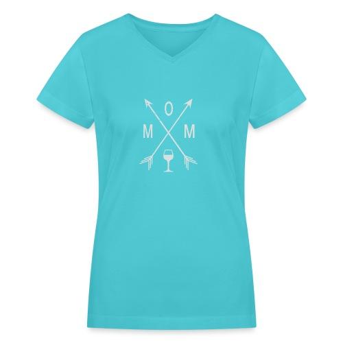Mom Wine Time - Women's V-Neck T-Shirt
