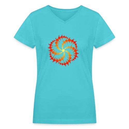 Crop circle - Women's V-Neck T-Shirt