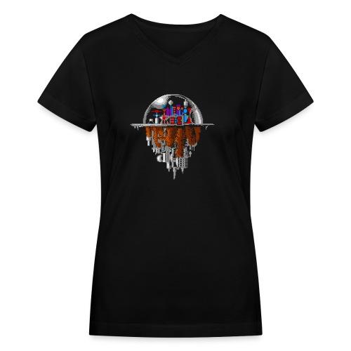 Sky city - Women's V-Neck T-Shirt