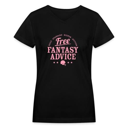 Free Fantasy Football Advice - Women's V-Neck T-Shirt