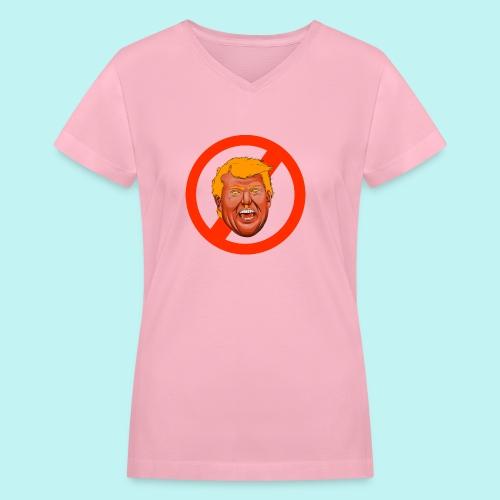 Dump Trump - Women's V-Neck T-Shirt