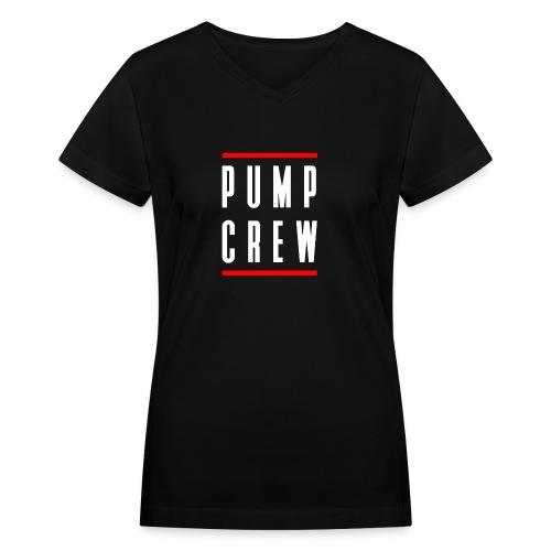Pump Crew - Women's V-Neck T-Shirt