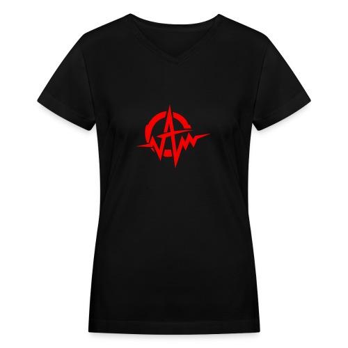 Amplifiii - Women's V-Neck T-Shirt