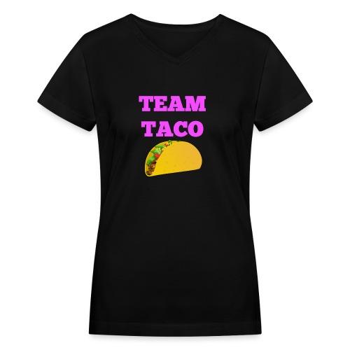 TEAMTACO - Women's V-Neck T-Shirt