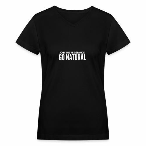 Join the resistence - Women's V-Neck T-Shirt