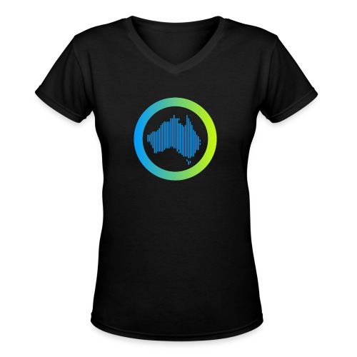 Gradient Symbol Only - Women's V-Neck T-Shirt