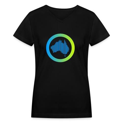 Gradient Symbol Only - Women's V-Neck T-Shirt