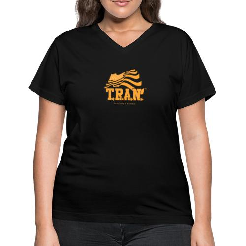 TRAN Gold Club - Women's V-Neck T-Shirt
