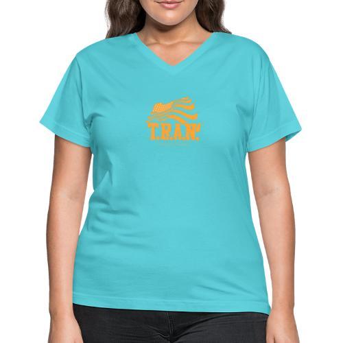 TRAN Gold Club - Women's V-Neck T-Shirt