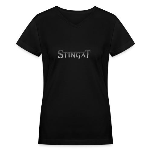Stinga T LOGO - Women's V-Neck T-Shirt