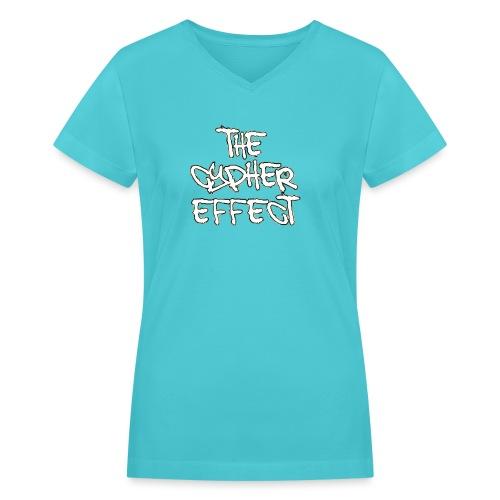 camo outline tce2 png - Women's V-Neck T-Shirt
