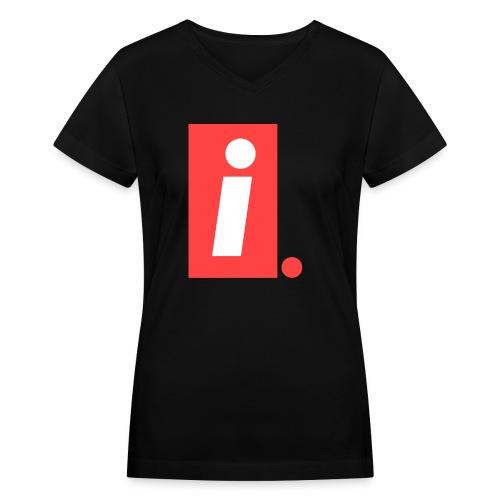 Ideal I logo - Women's V-Neck T-Shirt