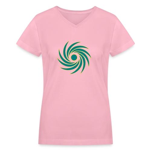 Whirl - Women's V-Neck T-Shirt