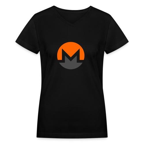 Monero crypto currency - Women's V-Neck T-Shirt