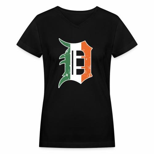 IRISH D - Women's V-Neck T-Shirt