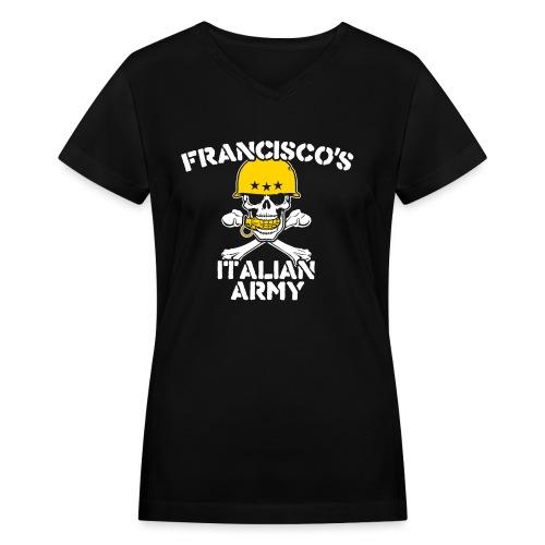 italian army v - Women's V-Neck T-Shirt